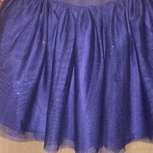 Girls Sparkly Navy skirt